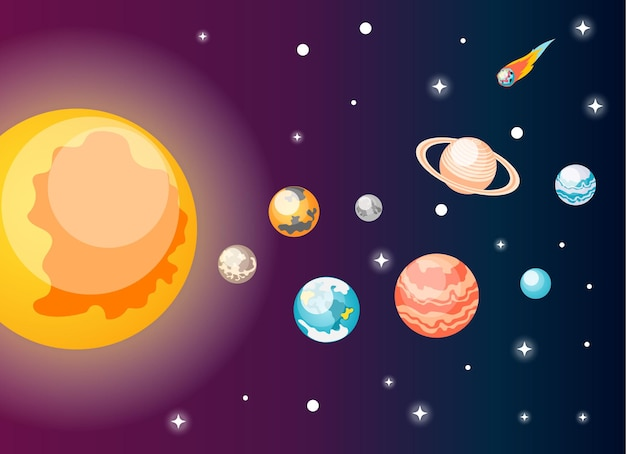 Ilustración de astronomía
