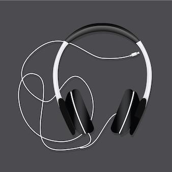 Ilustración de audio de entretenimiento para auriculares