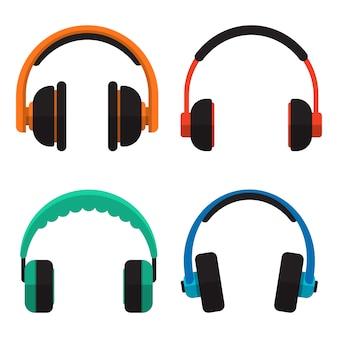 Ilustración de auriculares aislado en blanco