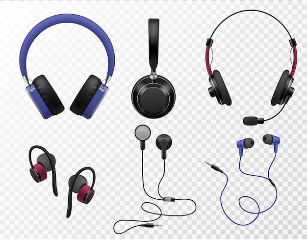 Ilustración de auriculares de música