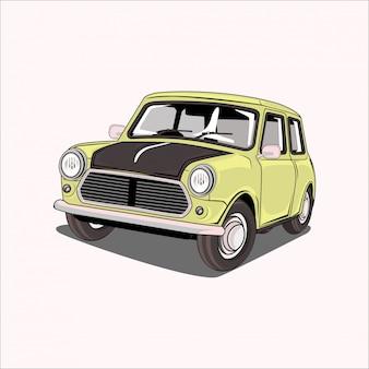 Ilustración de un auto clásico