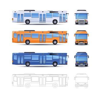 Ilustración del autobús de la ciudad