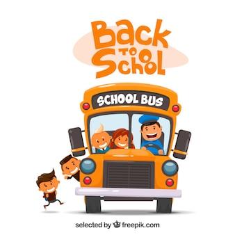 Ilustración del autobús escolar