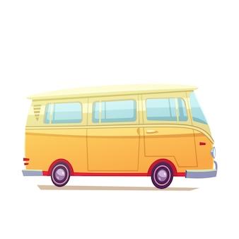 Ilustración de autobús de surf