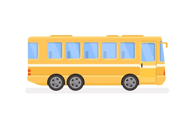 Ilustración de autobús urbano en estilo plano moderno