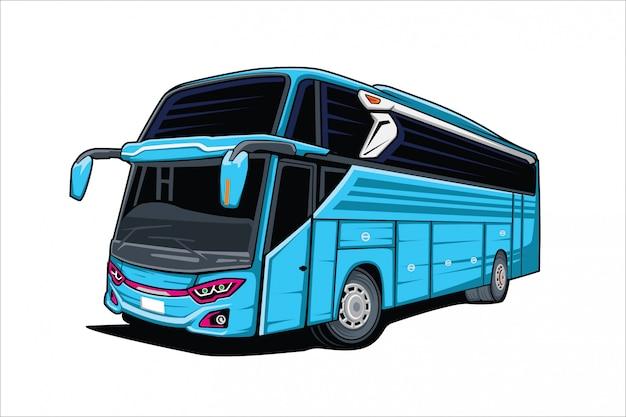Ilustración de autobús de vector