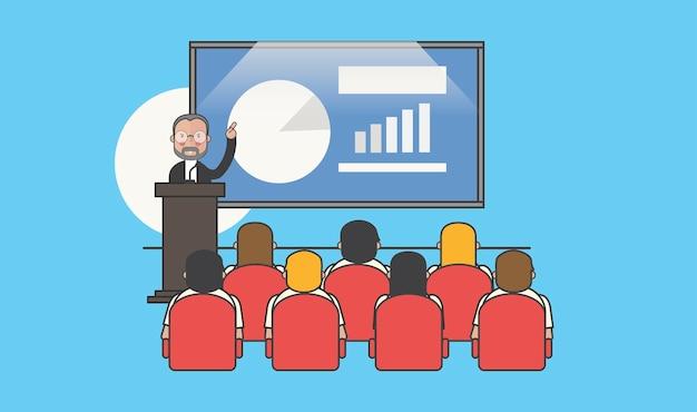 Ilustración de avatar de gente de negocios