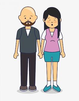 Ilustración de avatares de personas multiculturales