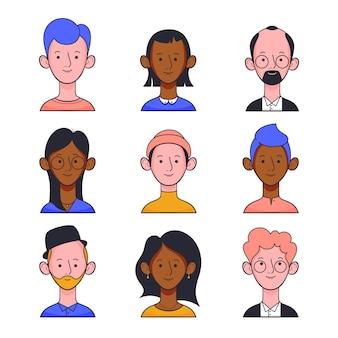 Ilustración con avatares de personas