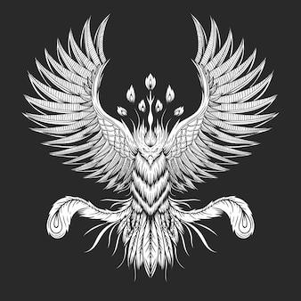 Ilustración de ave fénix