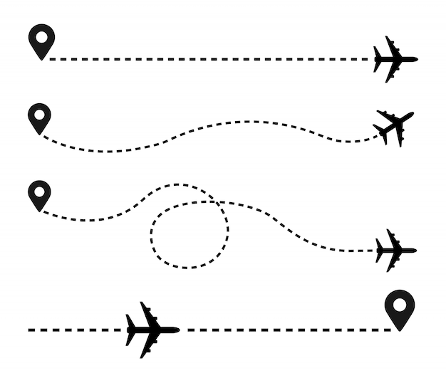 Ilustración de avión y pista