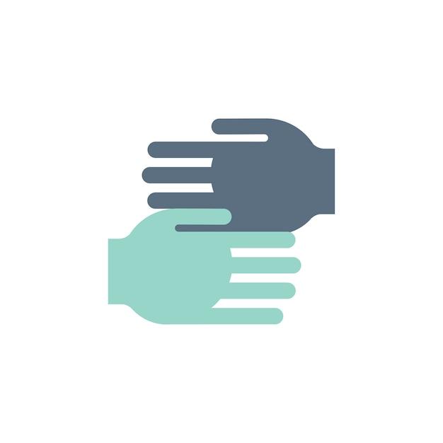 Ilustración de ayudar a las manos iconos de apoyo