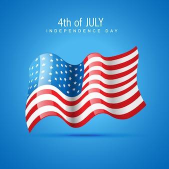 Ilustración azul para el día de la independencia
