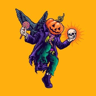 Ilustración de baile de halloween