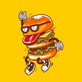 Ilustración de baile de hamburguesas