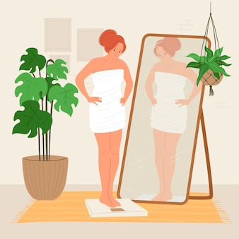 Ilustración de baja autoestima