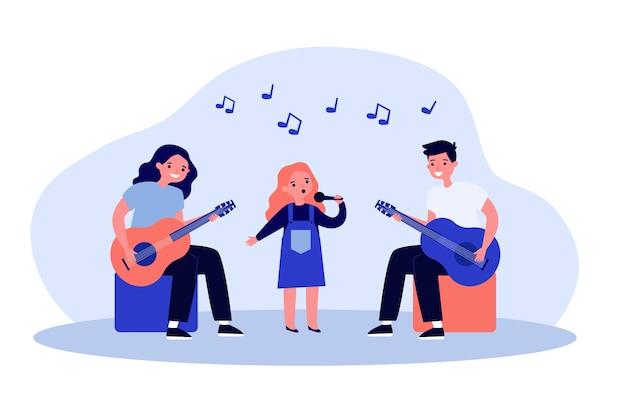 Ilustración de banda de música para niños