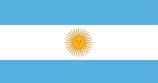 Ilustración de la bandera de argentina