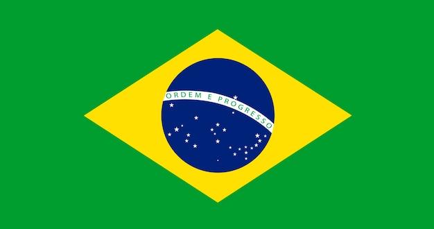 Ilustración de la bandera de brasil