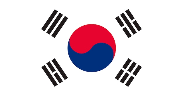 Ilustración de la bandera de corea del sur