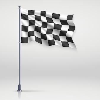 Ilustración de la bandera a cuadros