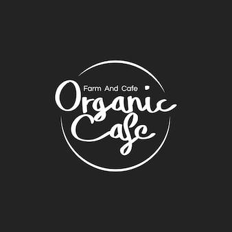 Ilustración de la bandera de estampillas de alimentos orgánicos