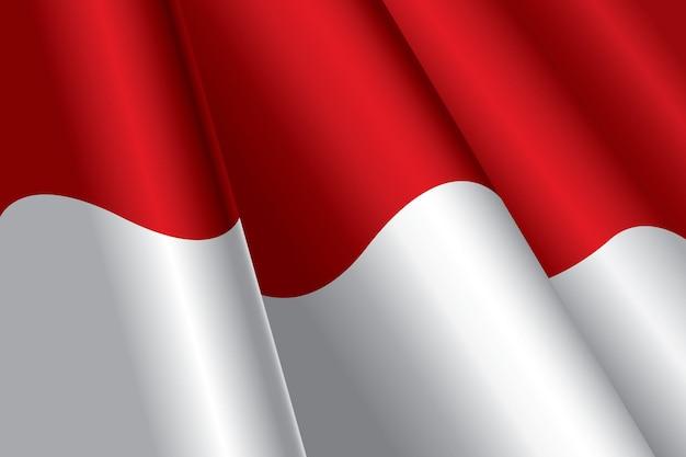 Ilustración de la bandera de indonesia