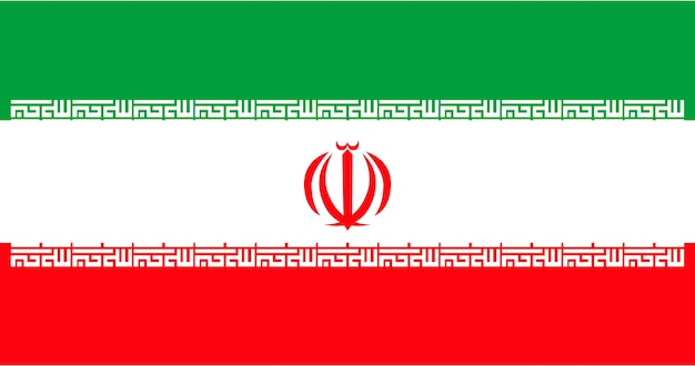 Ilustración de la bandera de irán