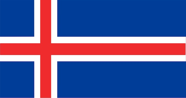 Ilustración de la bandera de islandia