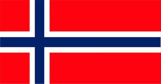 Ilustración de la bandera de noruega
