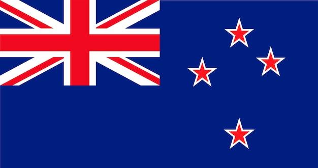 Ilustración de la bandera de nueva zelanda
