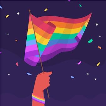 Ilustración de bandera plana del día del orgullo