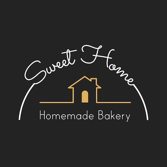 Ilustración de la bandera del sello de la casa de panadería