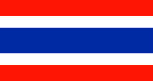Ilustración de la bandera de tailandia