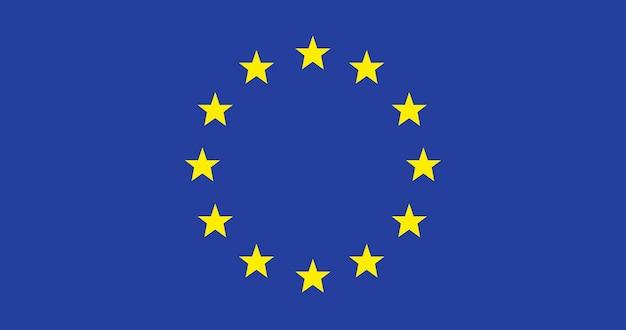 Ilustración de la bandera de la unión europea