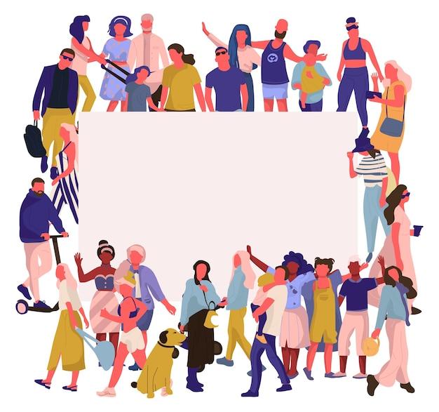 Ilustración de banner de gente de moda