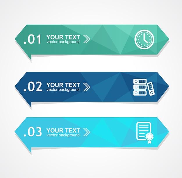 Ilustración de banner de opción de triángulo de papel para negocios, finanzas