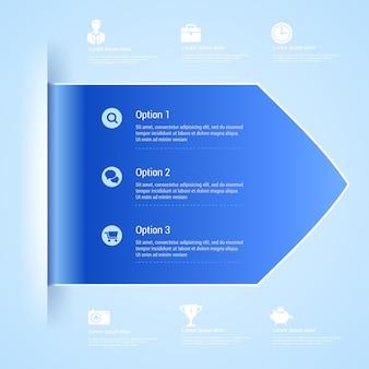 Ilustración de banner de opciones de infografía