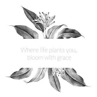 Ilustración de banner de planta tropical