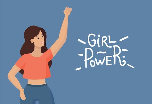 Ilustración de banner de poder femenino