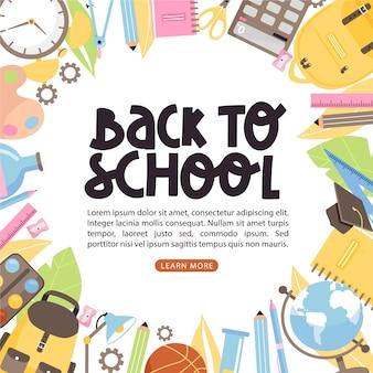 Ilustración de banner de regreso a la escuela.
