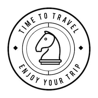 Ilustración de banner de sello de círculo