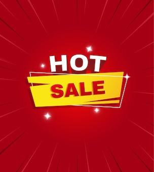 Ilustración de banner de venta caliente