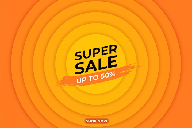 Ilustración de banner de venta súper grande moderna, banner web, tarjeta de descuento, promoción, diseño de volante, anuncio, publicidad, medios de impresión.