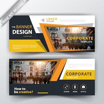 Ilustración de banner de web de negocios