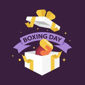 Ilustración de banner web de venta de día de boxeo