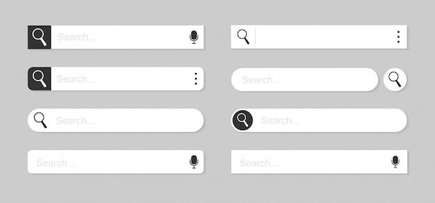 Ilustración de barras de búsqueda web
