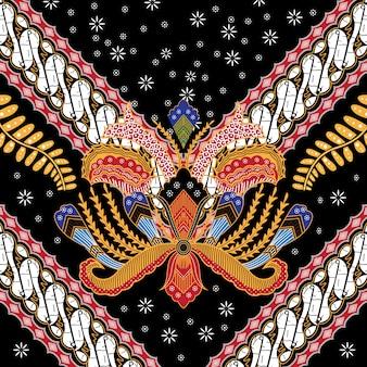 Ilustración de batik indonesio