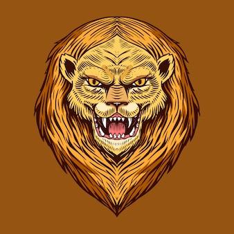 Ilustración de bestia rugiente