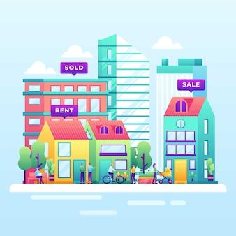 Ilustración de bienes raíces